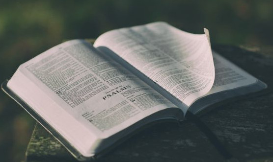 An open Bible at the book of Psalms - Photo by Aaron Burden-unsplash