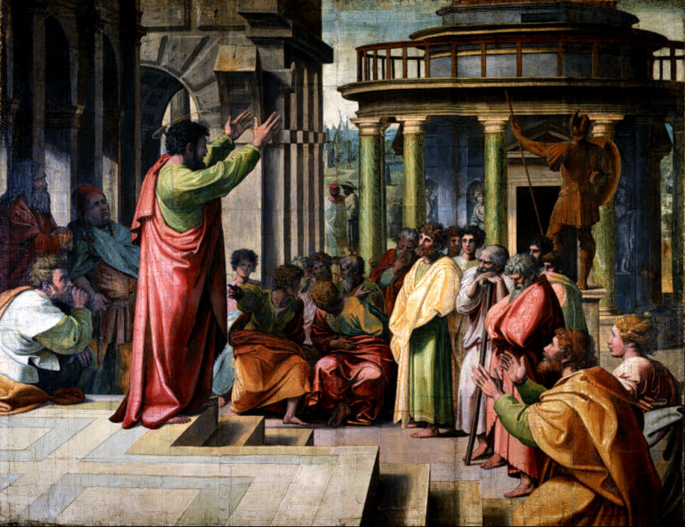 st-paul-preaching-in-athens-raphael-1515-courtesty-wikimedia-commons